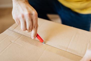 abriendo paquete