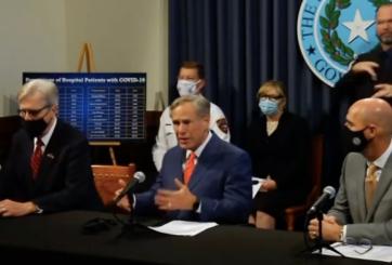 'No más cierres' dijo Gobernador de Texas en distribución de vacunas