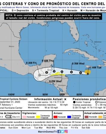 Alerta para Centroamérica y el Caribe por la tormenta tropical Nana