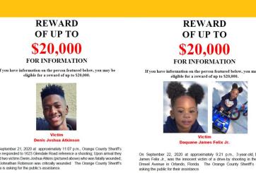 Aumentan a $20,000 cada recompensa por asesinos de 2 niños en Orlando