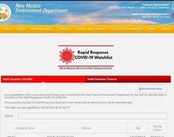 Nuevo México implementa monitoreo de negocios con casos de COVID-19