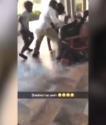 Screenshot de video sobre ataque a un adolescente en Otay Ranch mall