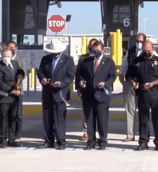 Inauguran dos carriles de México a Estados Unidos en Puente Anzaldúas