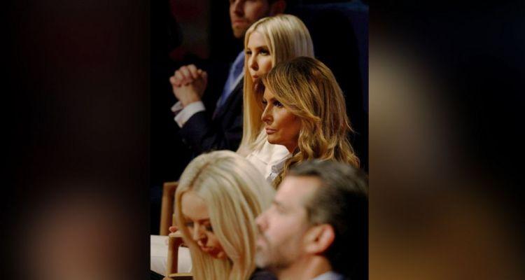 Acompañantes de Trump se negaron a usar tapabocas durante el debate
