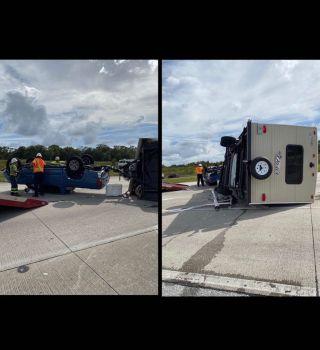 Dos heridos tras accidente que involucró remolque de casa rodante en I-4