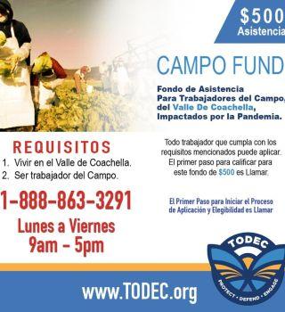 Fondo de $500 para campesinos del Valle de Coachella