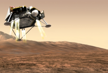 InSight (Interior Exploration Using Seismic Investigations, Geodesy And Heat Transport) Robotic Lander Illustration