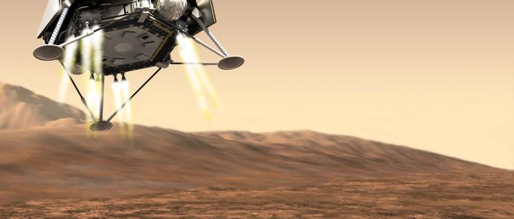 InSight (Interior Exploration Using Seismic Investigations, Geodesy And Heat Transport) Robotic Lander Illustration