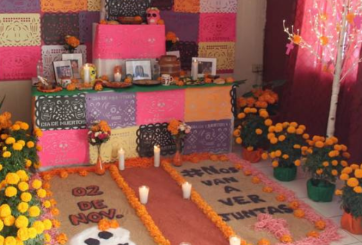 Dedican altar de muertos a la chihuahuense Marisela Escobedo
