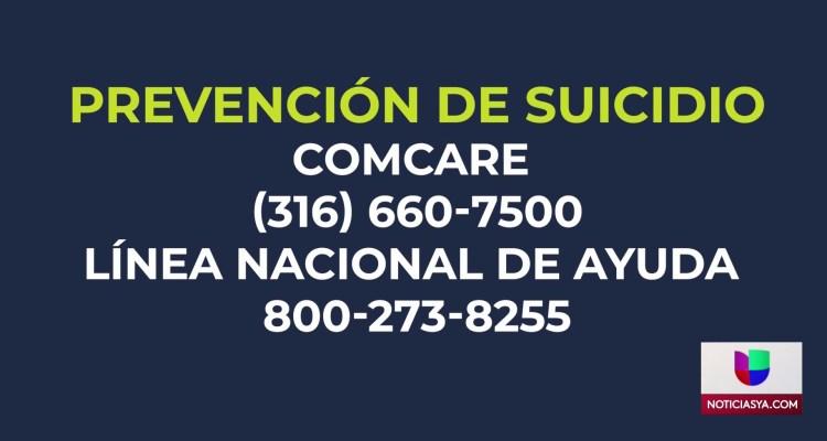 Alarmante tendencia de suicidios en Wichita