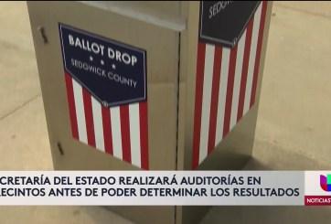 Realizan conteo de votos en Kansas antes de dar resultados oficiales