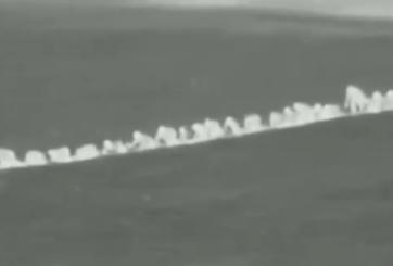 Intentan cruzar la frontera gateando y son captados por drones