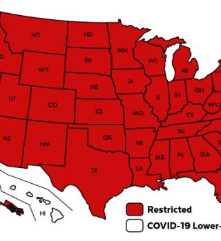 Casi todos los estados tienen restricciones de viaje a Massachusetts