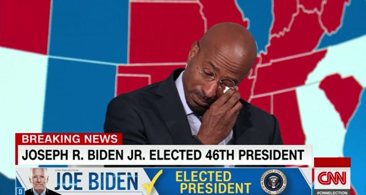 Conductor de CNN rompe en llanto ante la derrota de Donald Trump