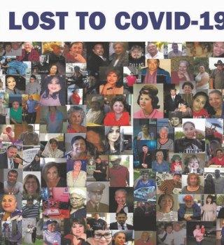 Anuncio panorámico honra a víctimas mortales del COVID-19 en el Valle