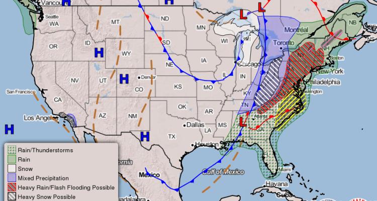 Una gran tormenta amenaza al centro, sur y este de EE. UU. en Nochebuena