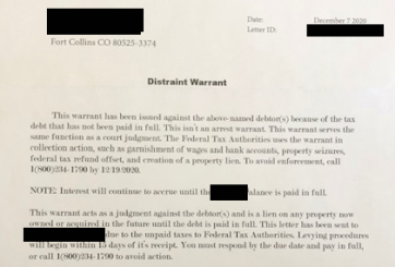 Alerta de estafa: órdenes de retención de impuestos falsas recibidas en Condado Larimer