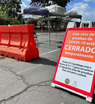 Cierre temporal para sitios de pruebas COVID en San Diego por fuertes lluvias