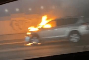 Vídeos: Auto en llamas generó evacuación del túnel Minillas en Puerto Rico