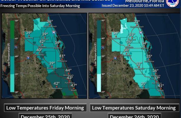 El día de Navidad se esperan las temperaturas más bajas desde hace 25 años