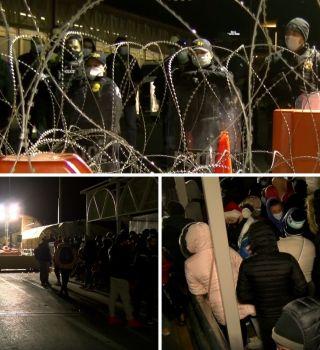 VIDEO: Así se paralizó el Puente Santa Fe con la caravana de migrantes