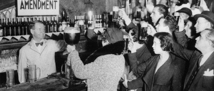 Hoy se cumplen 87 años de que EE.UU. terminó la prohibición al alcohol