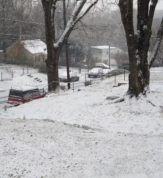 Así se vive este miércoles de nieve en el DMV