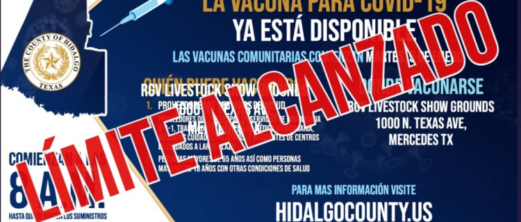 Clínica comunitaria de Mercedes se queda sin vacunas a horas de abrir