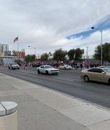 Protestas en favor de Trump se vivieron en Las Vegas