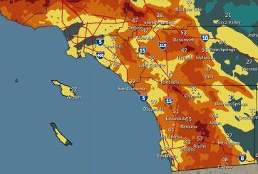 Alerta de fuertes vientos de Santa Ana y posibles lluvias en San Diego