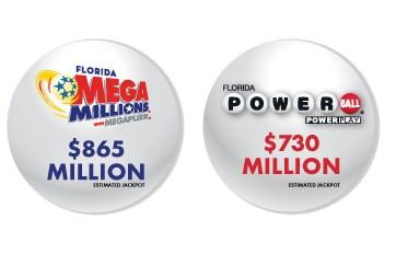 Cerca de $1,600 millones están en juego con Mega Millions y Powerball