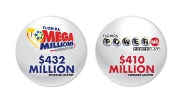 $842 millones buscan ganadores en Florida con Mega Millions y Powerball
