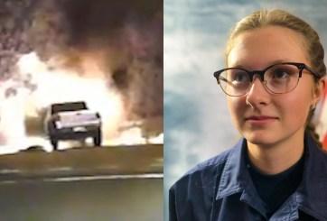 Joven EMT de 18 años logra rescatar a un anciano de auto en llamas