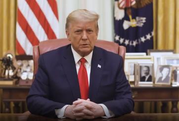 Trump publica video condenando el ataque al Capitolio que él incitó