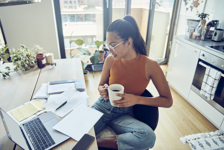 work from home, computer, office