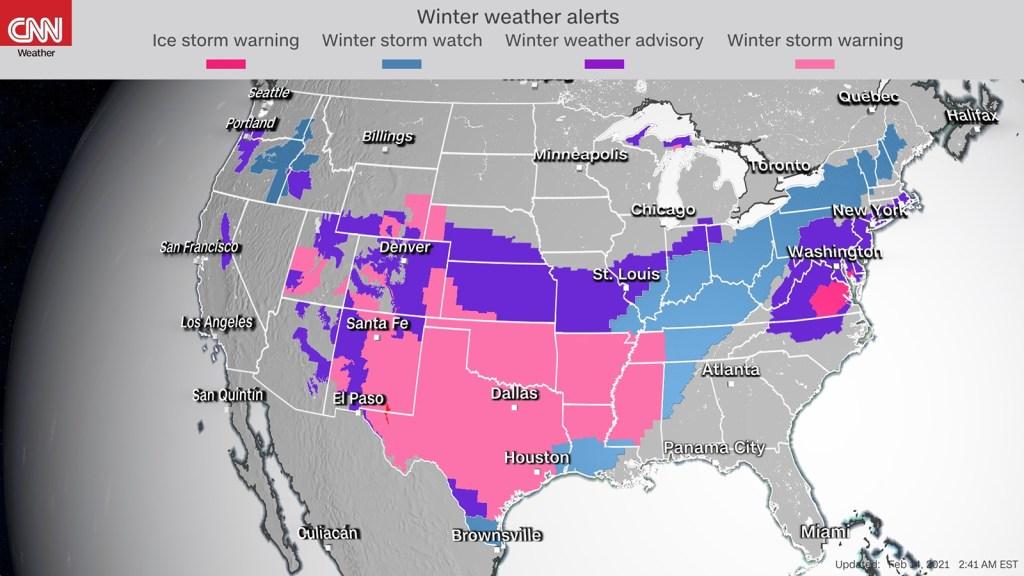 Tormenta invernal impacta Estados Unidos