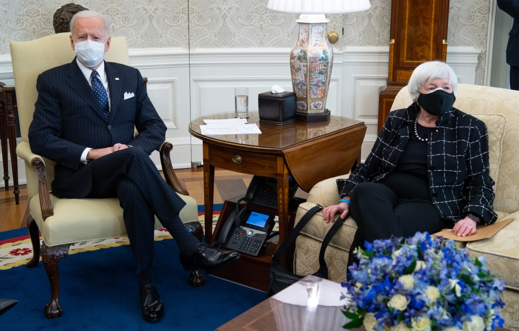 Joe Biden y la secretaria del Tesoro, Yellen