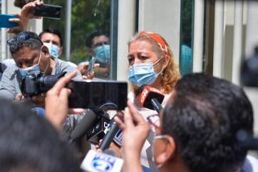 Rosibel Arriaza,madre de la mujer que murió a manos de la policía en México