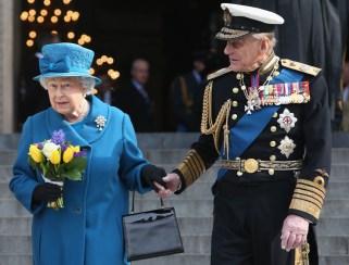 El príncipe Felipe y la Reina Isabel