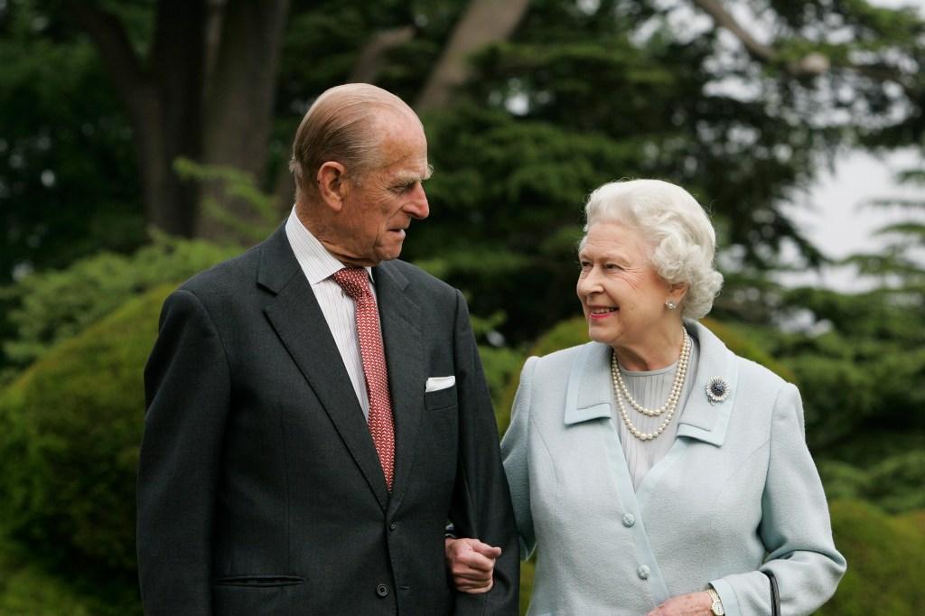 El duque de Edimburgo y la Reina Isabel
