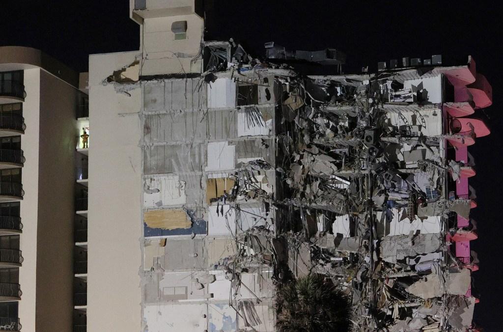 Edificio que colapsó en Surfside, Miamii