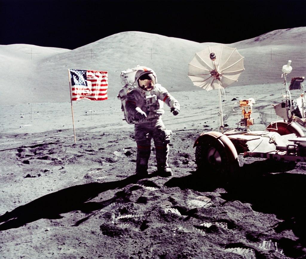Astronauta en la luna, 1 de diciembre de 1972
