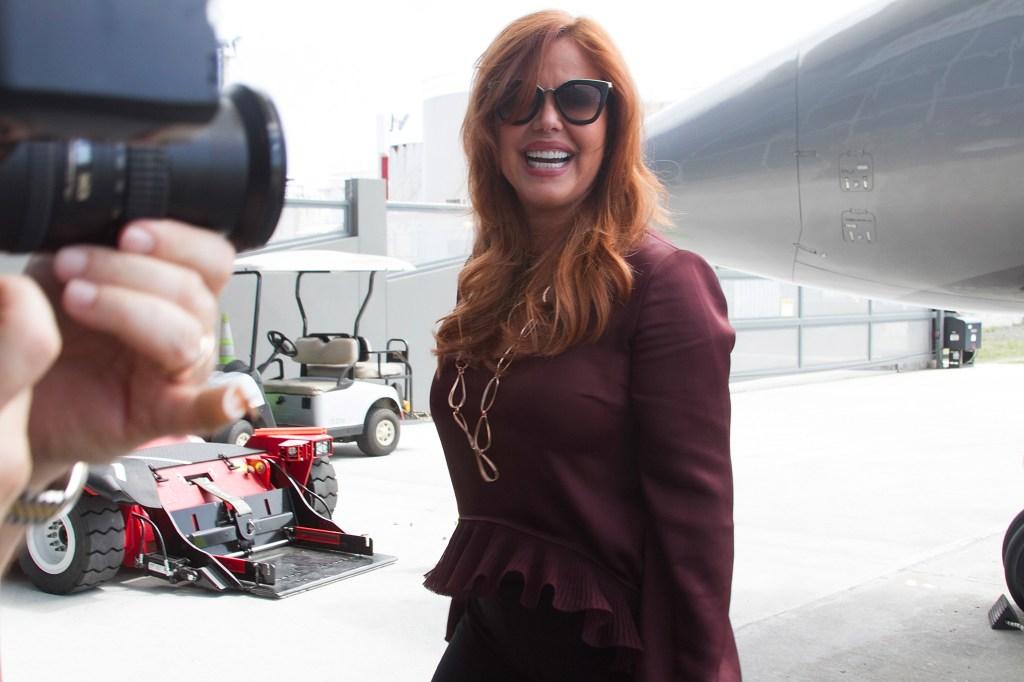 María Celeste llegando al Aeropuerto Internacional Luis Muñoz Marín el 27 de julio de 2017