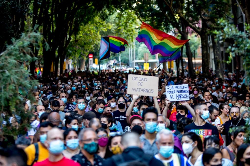 Protesta por crimen de odio a gay en España