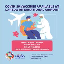 Clínica de vacunación en Laredo