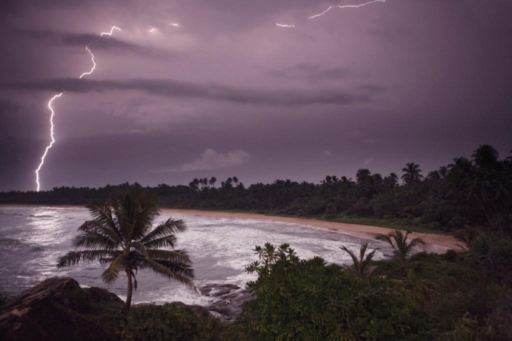 lightning beach