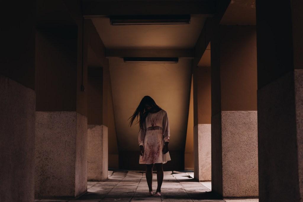 horror ghost woman