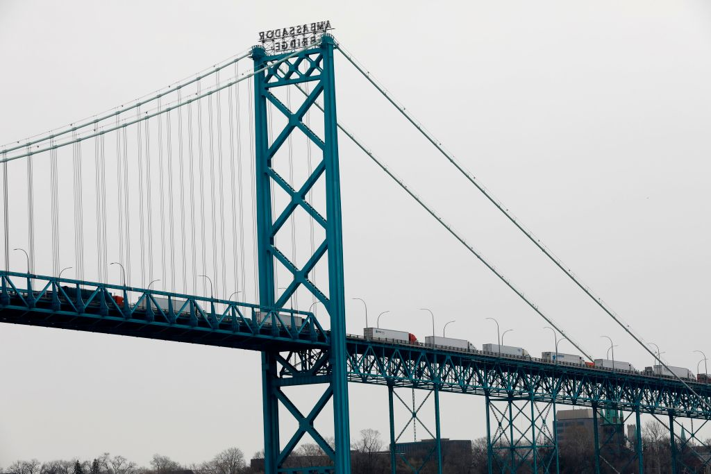 canada michigan bridge